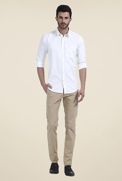 Basics White Solid Shirt - Mp000000000771872