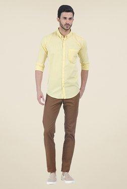 Basics Yellow Solid Shirt