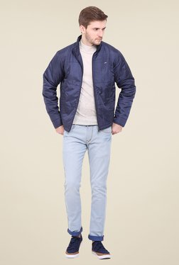 Duke Navy Solid Jacket
