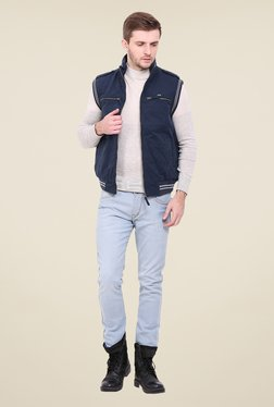 Duke Navy Solid Jacket - Mp000000000775204
