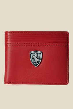 Puma Ferrari LS Red Leather Wallet - Mp000000000774707