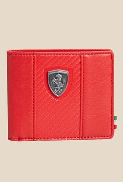 Puma Ferrari LS Red Leather Wallet