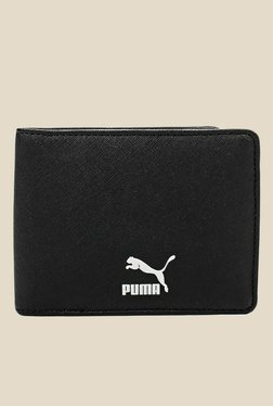 Puma Originals Black Leather Wallet