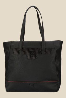 Puma Ferrari LS Black Solid Tote Bag