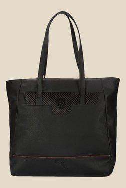 Puma Ferrari LS Black Solid Tote Bag