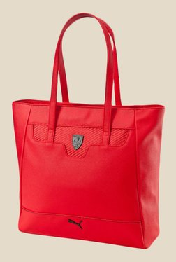 Puma Ferrari LS Red Solid Tote Bag