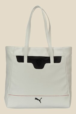 Puma Ferrari LS White Solid Tote Bag