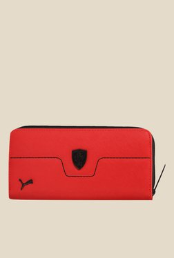 Puma Ferrari LS Red Textured Wallet