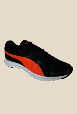 Puma Flexracer DP Black & Orange Running Shoes