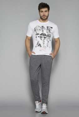 Westsport By Westside Grey Slim Fit Textured Trackpant