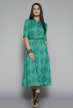 Bombay Paisley by Westside Green Printed Dress