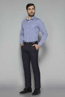 Weststreet by Westside Blue Checks Tailored Fit Shirt
