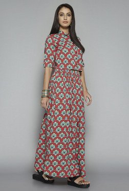 Bombay Paisley by Westside Red Printed Skirt