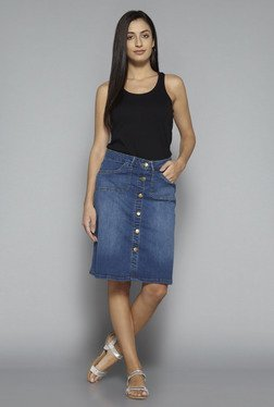 LOV by Westside Blue Brooke Skirt
