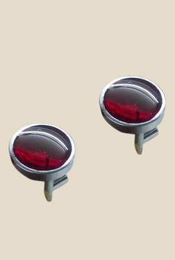 Blacksmith Red Round Metal Cufflinks