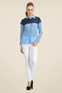 Ozel Blue Lace Shirt