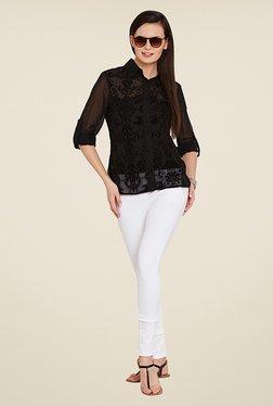 Ozel Black Lace Shirt