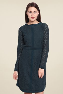 Ozel Green Lace Dress