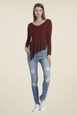 Only Maroon Solid Top