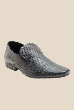 Red Tape Black Formal Slip-Ons