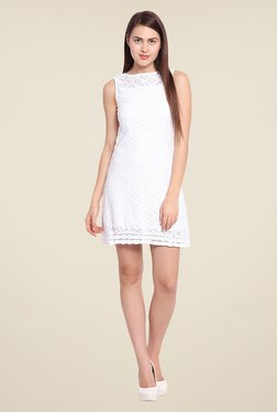 Ozel White Lace Dress