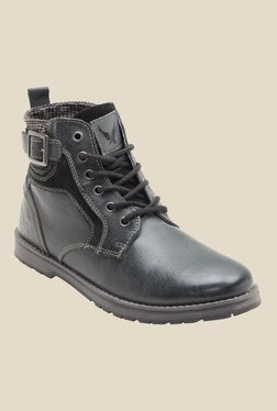 Yezdi By Red Tape Black Casual Boots