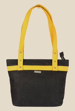 Bern Black Solid Tote Bag