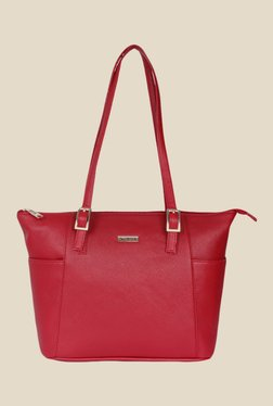 Bern Red Solid Tote Bag
