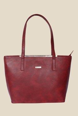 Bern Maroon Double Handle Tote Bag