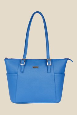 Bern Blue Solid Trapeze Bag
