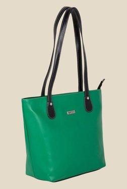 Kara Green Solid Tote Bag