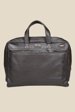 Kara Dark Brown Leather Unisex Laptop Bag