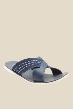 Red Tape Navy Cross Strap Sandals