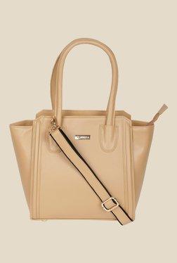 Bern Beige Solid Trapeze Bag