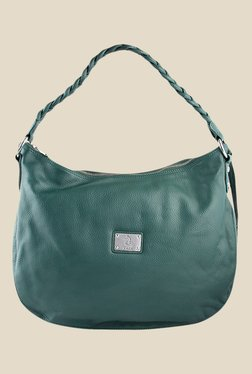 Kara Green Plaited Strap Hobo Bag