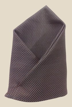 Blacksmith Grey And Brown Egyptian Giza Pocket Square