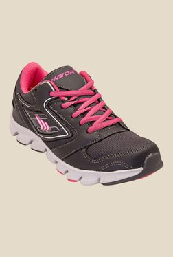 Mayor Dolphin Charcoal Grey & Pink Running Shoes