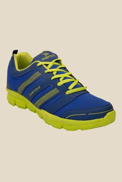 Mayor Brass Blue & Lime Green Running Shoes