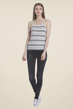 Only Grey Striped Top