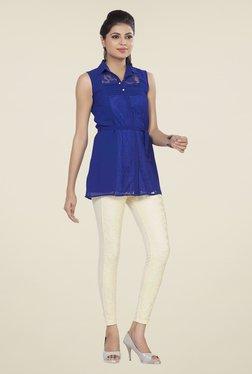 Soie Blue Lace Tunic