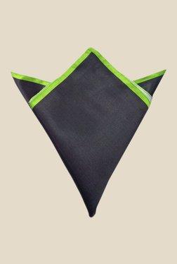 Blacksmith Black And Green Satin Pocket Square