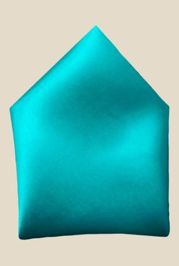 Blacksmith Turquoise Satin Pocket Square