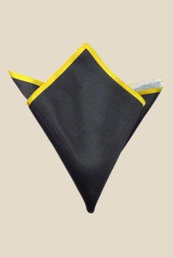 Blacksmith Black And Yellow Satin Pocket Square