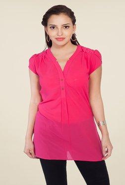Soie Pink Solid Top