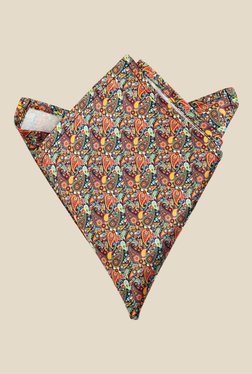 Blacksmith Multicolour Paisley Printed Satin Pocket Square