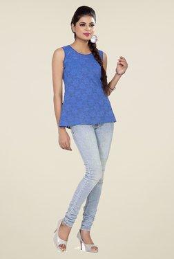 Soie Blue Lace Top - Mp000000000791992