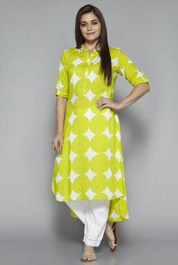 Utsa by Westside Lime Printed Kurta