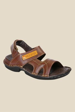 Red Chief Dark Brown Back Strap Sandals
