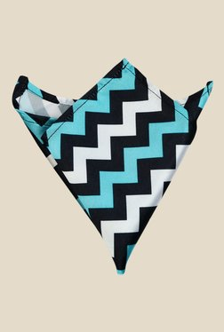 Blacksmith Blue Chevron Printed Pocket Square