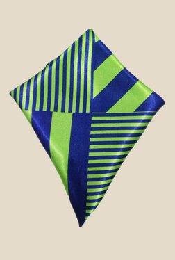 Blacksmith European Green Striped Satin Pocket Square